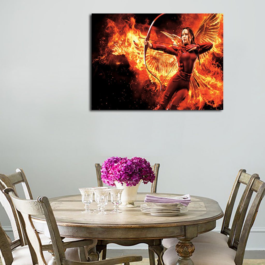 1 Panel Katniss Everdeen Holds the Bow Wall Art Canvas