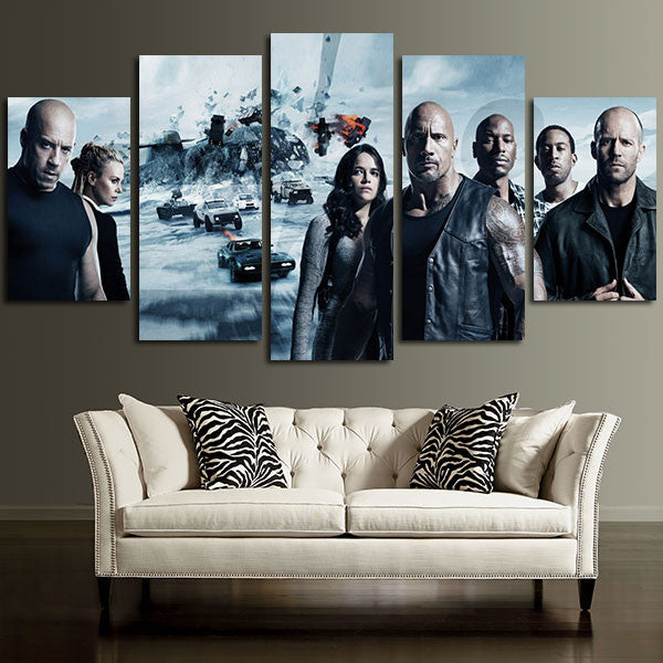 Fast & Furious 8 Dominic Family Wall Art Canvas