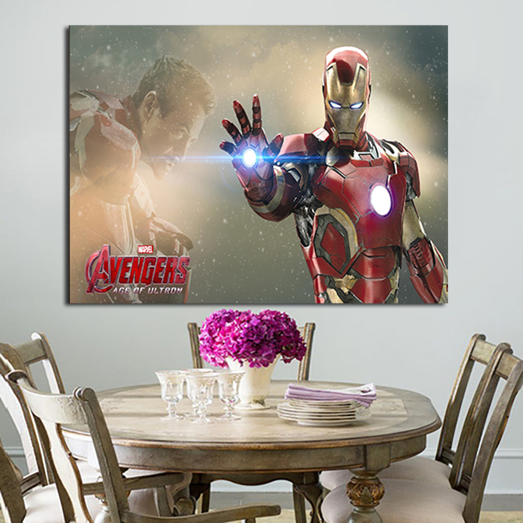 1 Panel Iron Man Suit And Tony Stark Wall Art Canvas