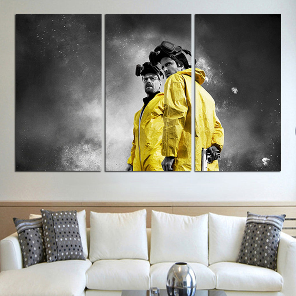 3 Panel Walter White And Jesse Wall Art Canvas – Super Hacks