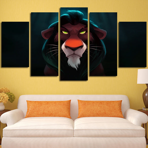 Contemporary Lion Wall Art Motif - All About Wallart - adelgazare.info