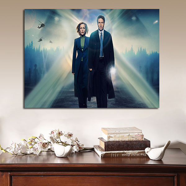1 Panel Dana Scully And Fox Mulder Wall Art Canvas