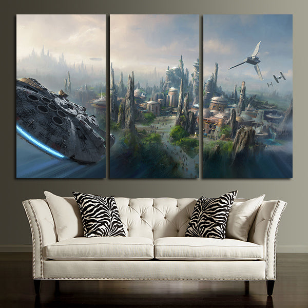 Charmant ... 3 Panel City Of Star Wars Wall Art Canvas