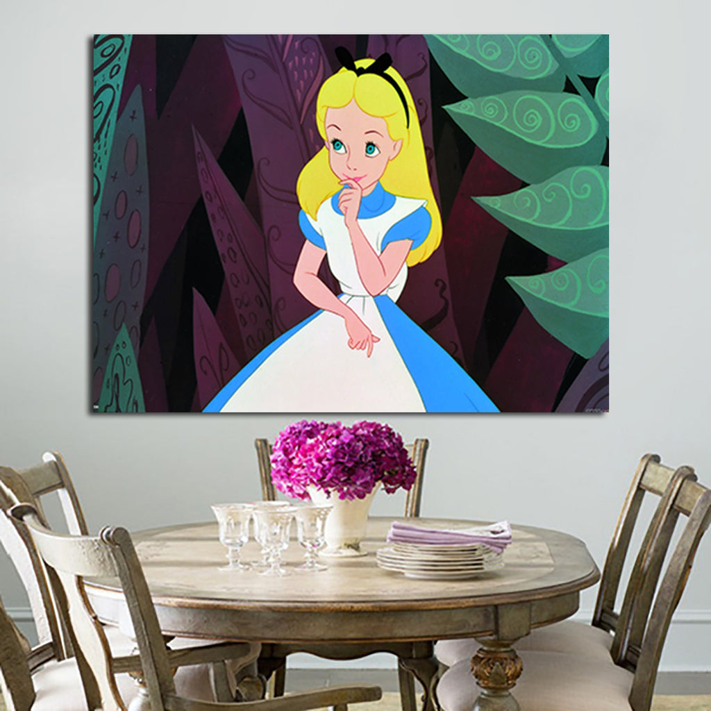 1 Panel Alice Beautiful Smile Wall Art Canvas