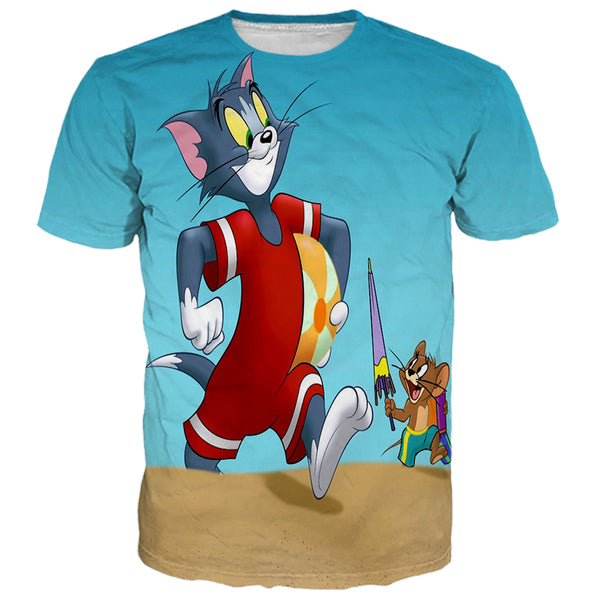 Tom And Jerry At Beach Shirts