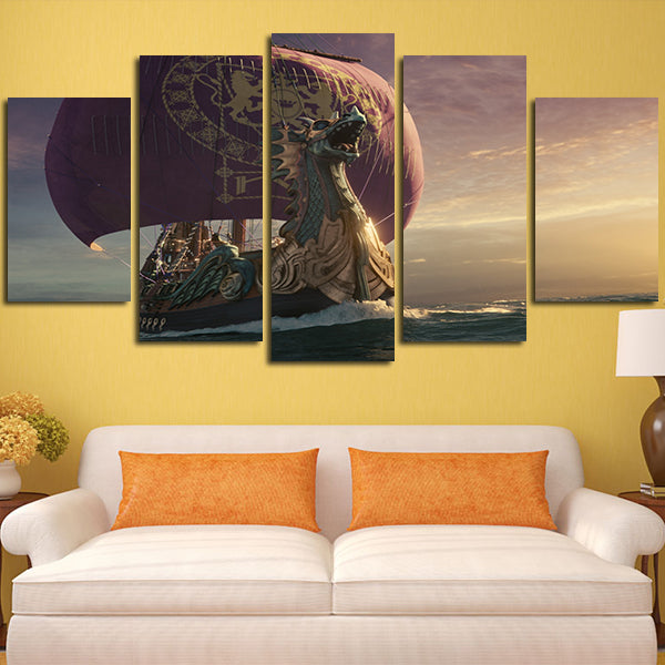 Funky Drifting Boats Wall Decor Pictures - Wall Art and Decor Ideas ...