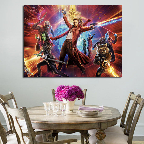 Guardians Of The Galaxy 2 Team Wall Art Canvas