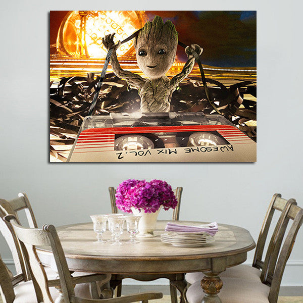 Guardians Of The Galaxy 2 Baby Groot Wall Art Canvas