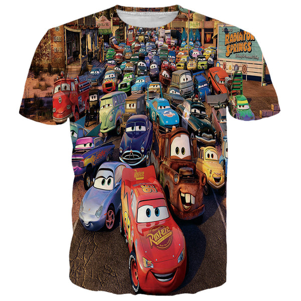 Disney Cars Racing Printed Shirts