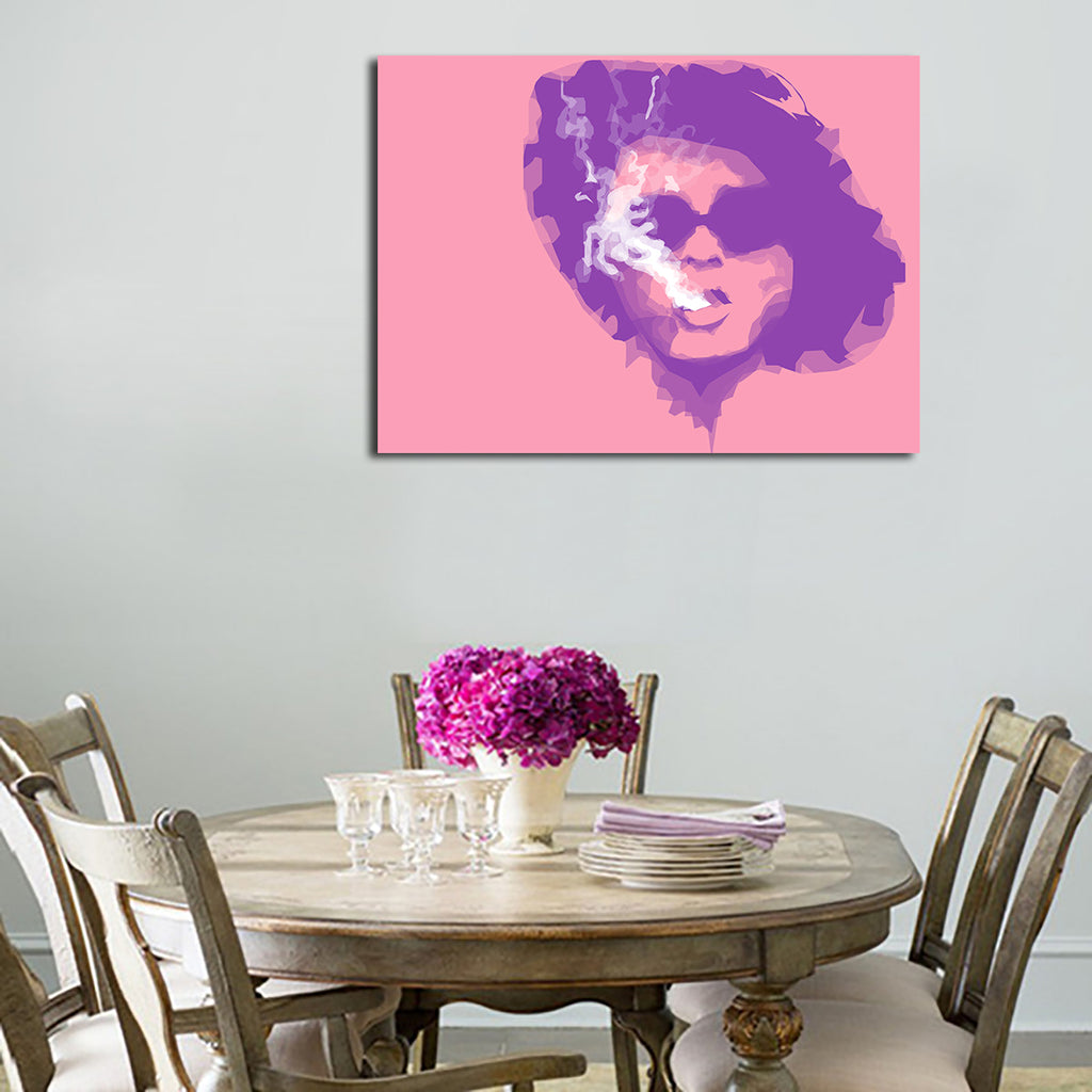 1 Panel Marla Singer Smokes Wall Art Canvas