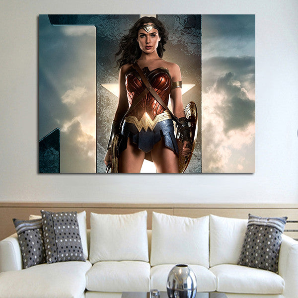1 Panel Wonder Woman And Sky Wall Art Canvas