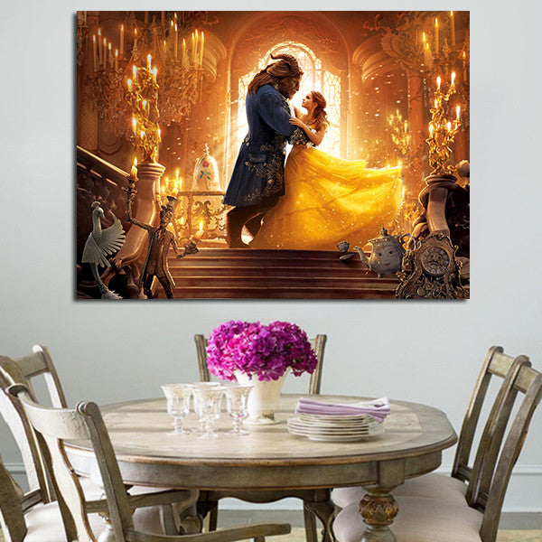 Beauty And The Beast Wall Art Canvas
