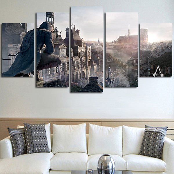 5 Panel Assassin's Creed Wall Art Canvas