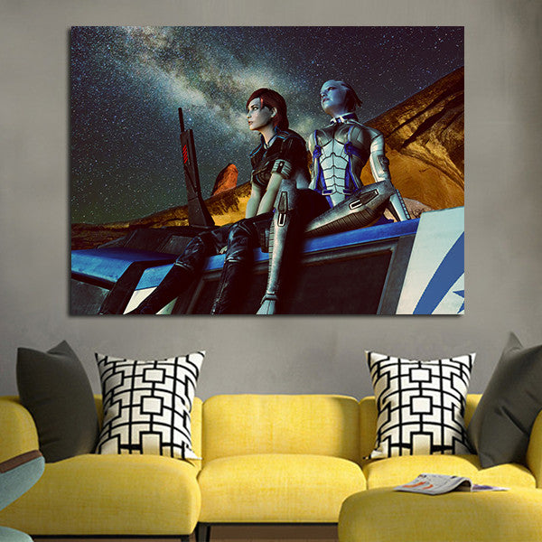 1 Panel Liara T'soni And Gabriella Daniels Wall Art Canvas