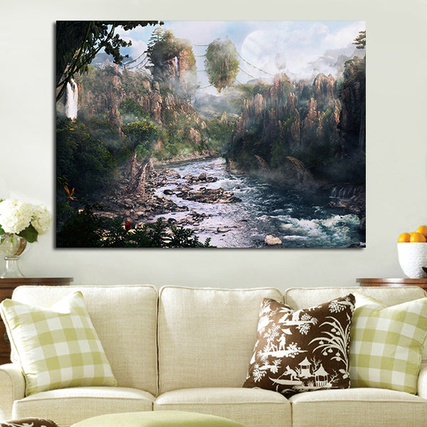 1 Panel Hallelujah Mountains In Avatar Wall Art Canvas