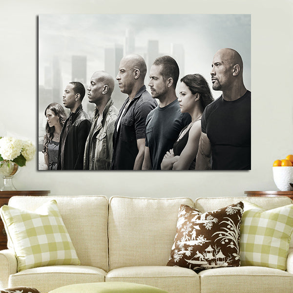 1 Pannel Fast And Furious 8 Dominic Team Wall Art Canvas