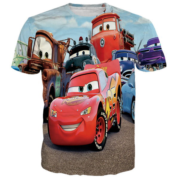 Disney Cars Printed Shirts