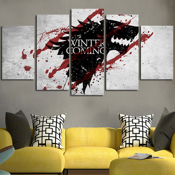 Game Of Thrones Stark Decorative Wall Art Canvas