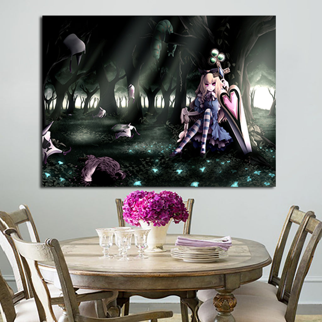 1 Panel Gothic Alice In Wonderland Wall Art Canvas