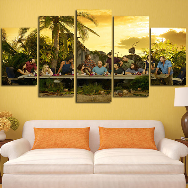 5 Panel Lost The Last Supper Wall Art Canvas – Super Hacks