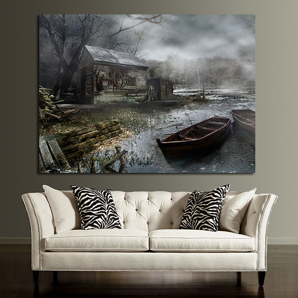 1 Panel Resident Evil Background Wall Art Canvas
