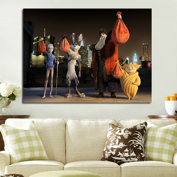1 Panel Four Guardians Wall Art Canvas