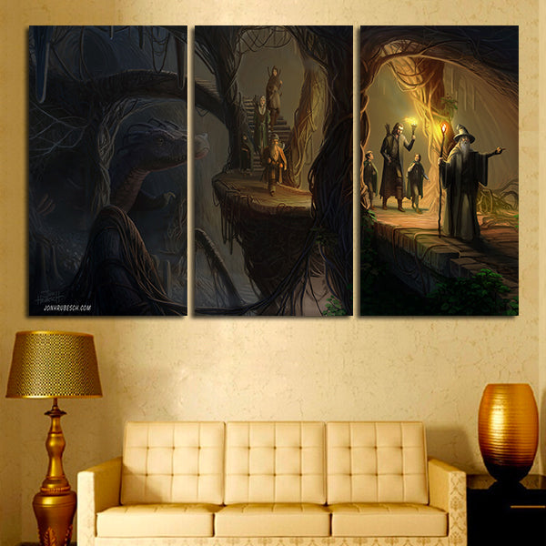 3 Panel Lord Of the Rings Artwork Wall Art Canvas – Super Hacks