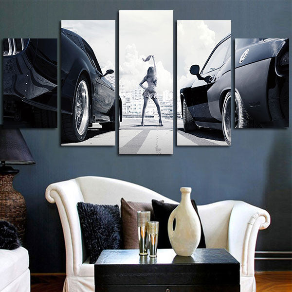 Fast & Furious Racing Cars Wall Art Canvas