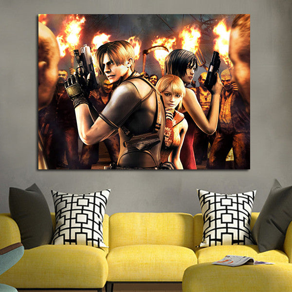 1 Panel Resident Evil 4 Fondos De Pantalla Wall Art Canvas