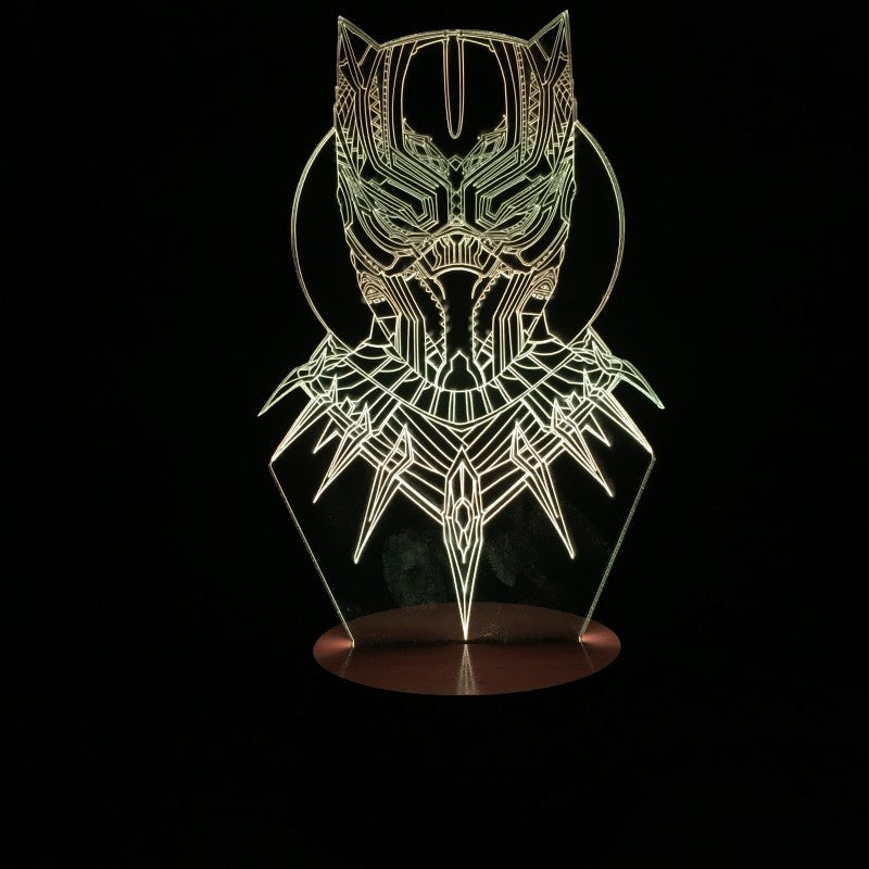 Marvel Avenger Superhero The Black Panther 3D Lamp