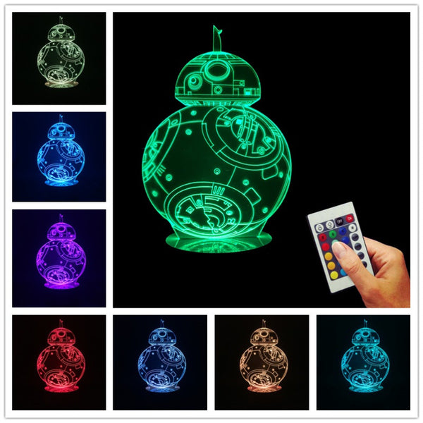 Star Wars The Force Awakens BB-8 Droid Lamp