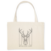Sac Shopping Bag coton Bio - Monsieur Cerf