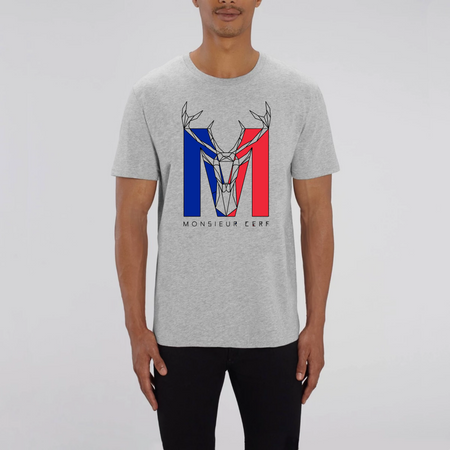 T-shirt 100% Coton Bio - Monsieur Cerf France