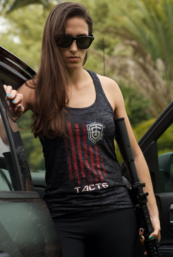 American Flag - Ladies Tank Top [We Ship Two]