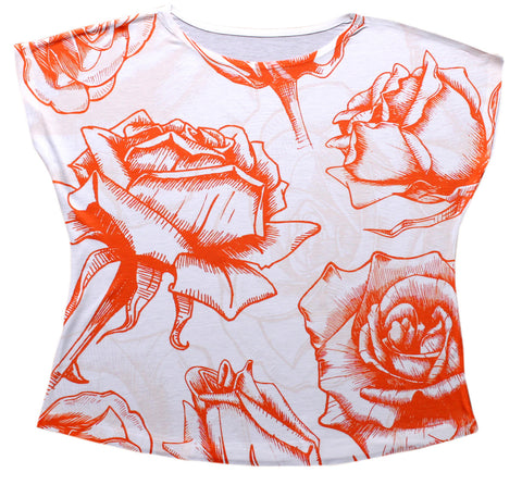 Red Rose Dolman Top - Stylofi