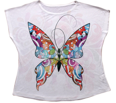 Colorful Butterfly Dolman Top - Stylofi