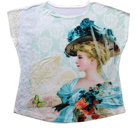 Woman With Hat Dolman Top - Stylofi