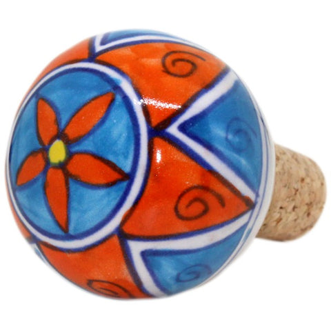 Turquoise and Red Color Wine Stopper - Stylofi