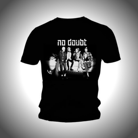 NO DOUBT MEN'S TEE: BLACK & WHITE POSE