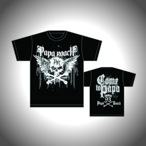 PAPA ROACH MEN'S TEE: CROSSBONES DRIPS