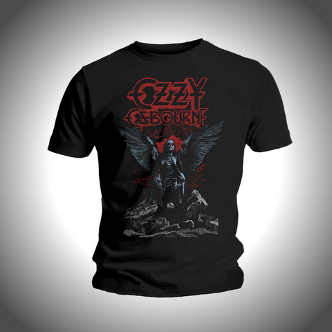 OZZY OSBOURNE MEN'S TEE: ANGEL WINGS