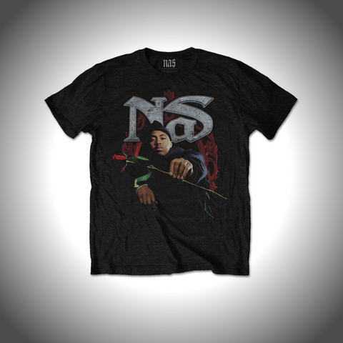 NAS MEN'S TEE: RED ROSE