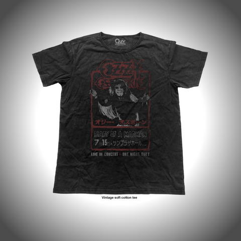 OZZY OSBOURNE MEN'S FASHION TEE: JAPAN FLYER