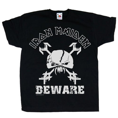 IRON MAIDEN KIDS TEE: BEWARE DESIGN