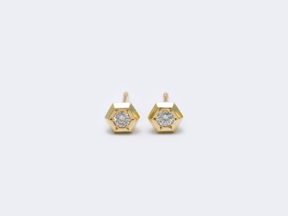 80wd1 hexagon earrings