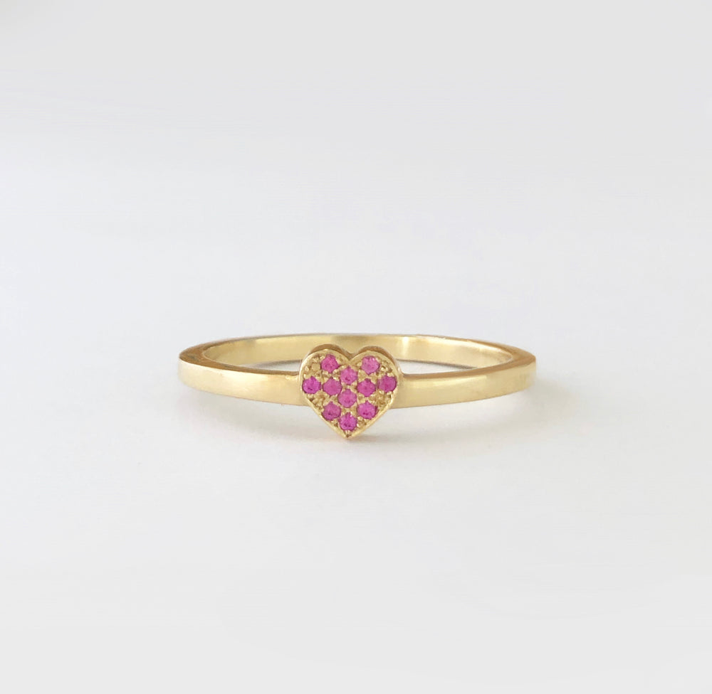 Gold Heart and pink