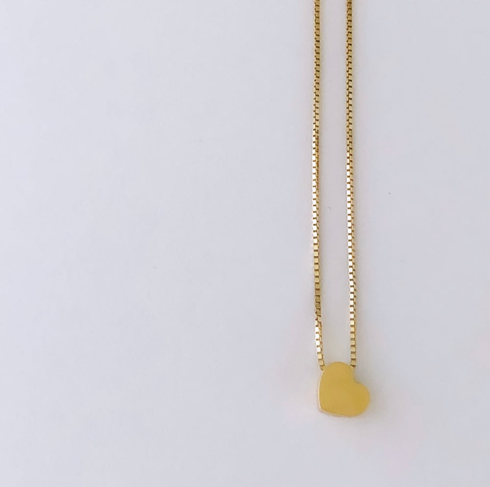 138 gold Haert necklace
