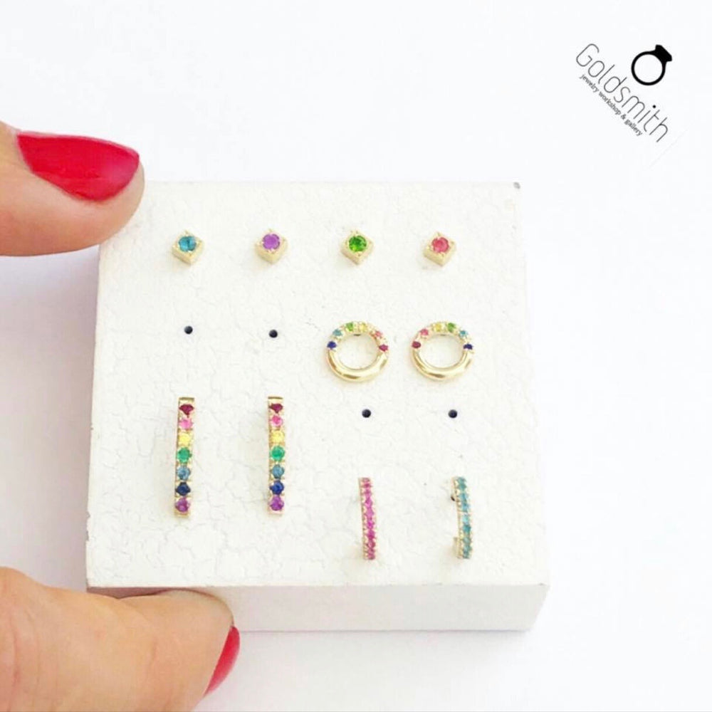 63 square stud earrings