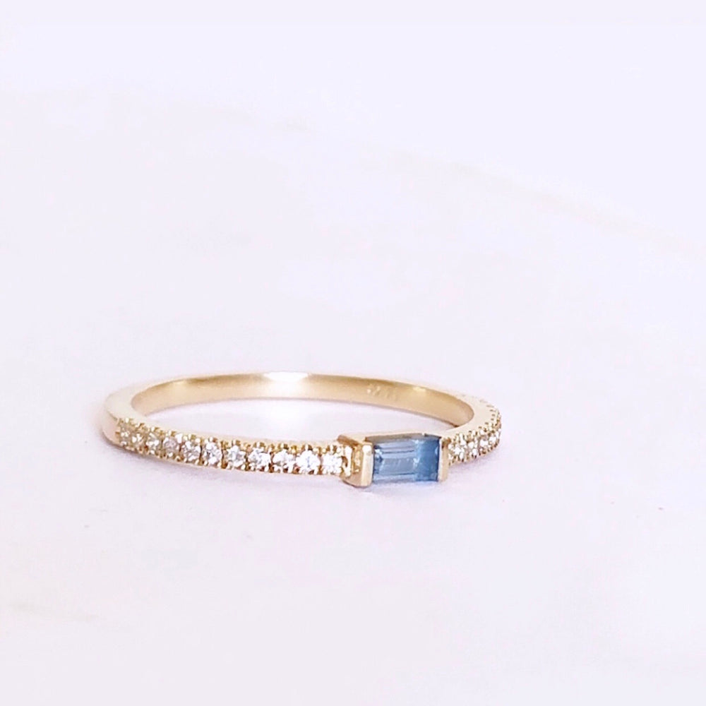 Light blue Bugget Ring