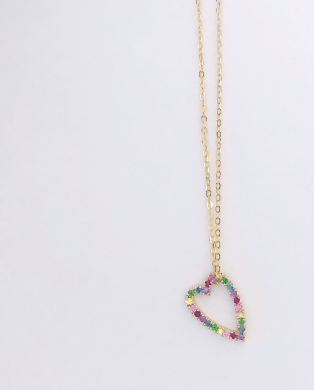 Rainbow heart necklace - to go